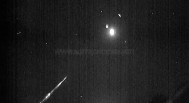 Una espectacular bola de fuego cruza el cielo de Talavera