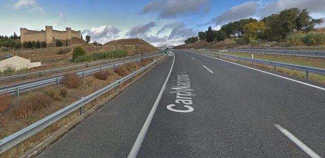 Cortada la A-5 en sentido Madrid a la altura de Maqueda tras el vuelco de un camión