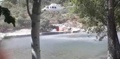VÍDEO | Lucha aérea contra el fuego de El Raso en Candeleda