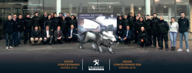 Grupo Talauto recibe el premio como 'Mejor Concesionario Peugeot de España'