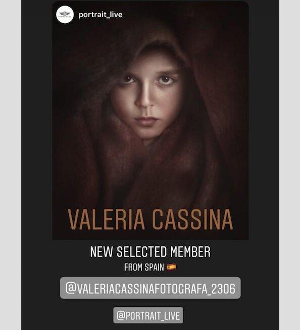 Valeria Cassina en Portrait Live, la comunidad de los mejores fotógrafos de retratos del mundo