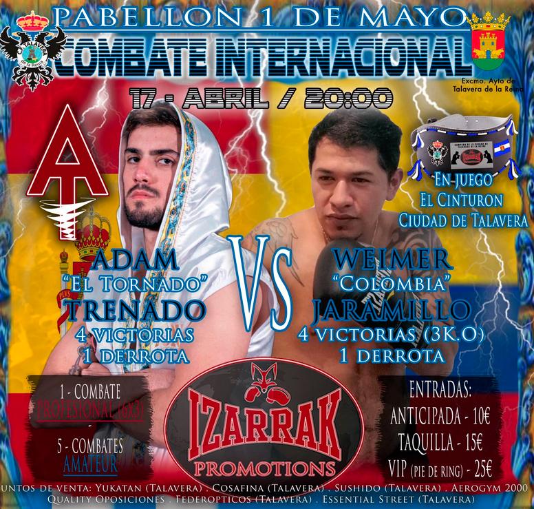 Nuevo combate de Adam Trenado en Talavera