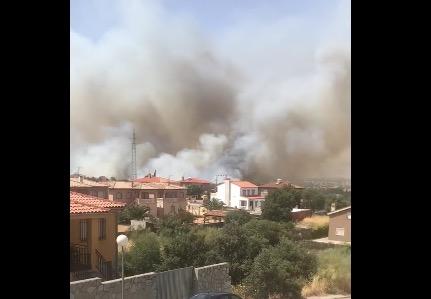 EL CASAR DE ESCALONA   Extinguido el incendio forestal tras 15 horas de lucha