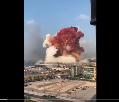VÍDEO | Impresionante explosión en Beirut