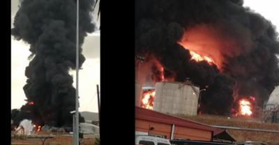 ÚLTIMA HORA   Incendio en Repsol de Puertollano: sin nube tóxica ni riesgo para la población