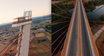 VÍDEO | Espectaculares imágenes del 'Puente Atirantado' a vista de dron