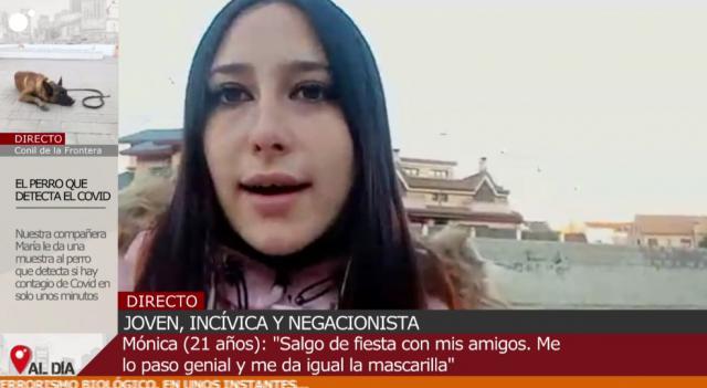 Captura de la entrevista en Cuatro al día