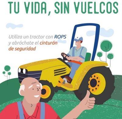 TU VIDA, SIN VUELCOS | El peligro al conducir en tractor