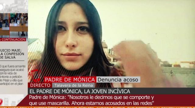 """TELEVISIÓN   El padre de Mónica, la joven que no teme al Covid: """"La familia no está nada de acuerdo con ella"""