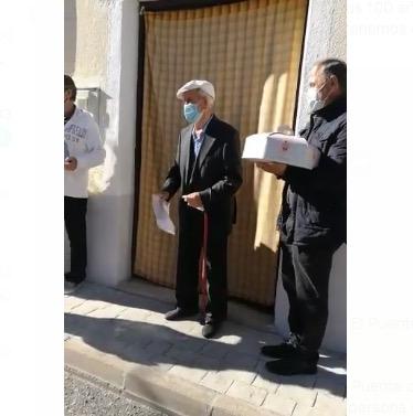VÍDEO | Homenaje de El Puente del Arzobispo a Honorio de la Cal por sus 100 años