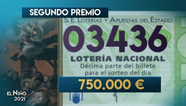 03.436   Segundo premio del sorteo de la Lotería del Niño