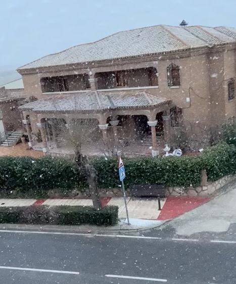 VIDEO   Parte de la provincia de Toledo amanece cubierta de nieve