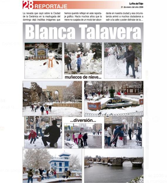 TEMPORAL | La nevada de hace 15 años en Talavera (fotos)