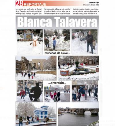 TEMPORAL   La nevada de hace 15 años en Talavera (fotos)
