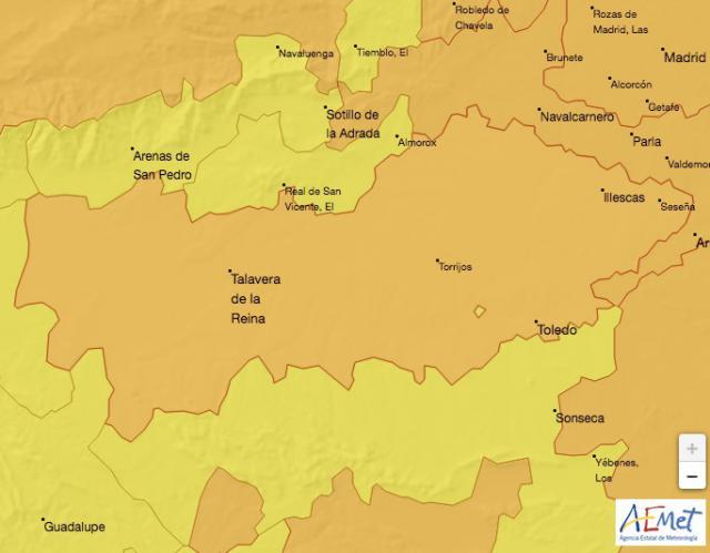 TALAVERA Y COMARCA | Alerta naranja por bajas temperaturas