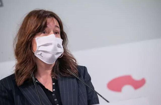 La portavoz del Gobierno de Castilla-La Mancha, Blanca Fernández, en rueda de prensa - JCCM