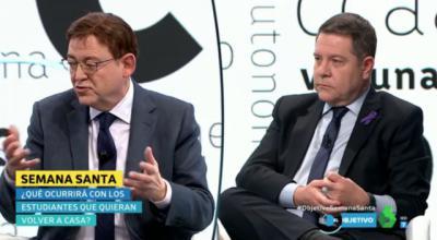Ximo Puig y Emiliano García-Page en El Objetivo