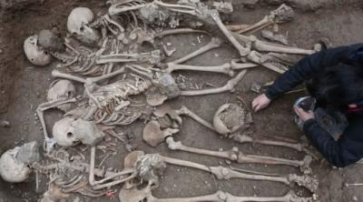 Restos de los cadáveres encontrados en la fosa común de Salomó (Tarragona)EUROPA PRESS