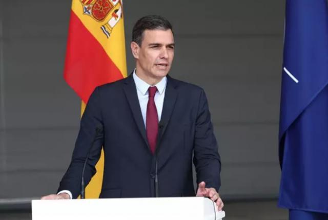 El presidente del Gobierno, Pedro Sánchez, durante su visita a Lituania - Pool Moncloa/Fernando Calvo