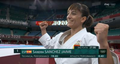 ¿Te lo perdiste? Sandra Sánchez asegura medalla (oro o plata) en kárate