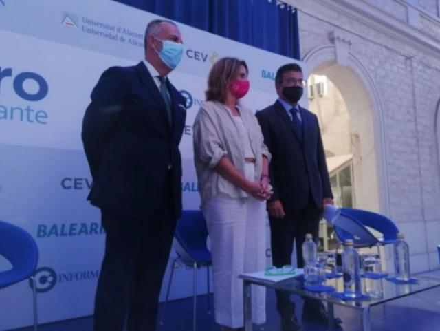 La ministra Teresa Ribera en el Foro Alicante. - EUROPA PRESS