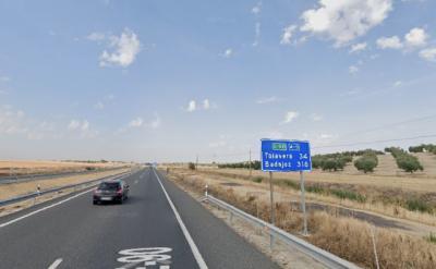 Volverán a pintar las marcas viales de un tramo de la A-5 en Toledo