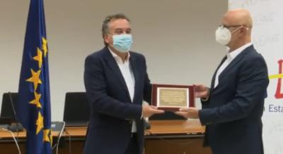 La emoción de Roberto Brasero al recibir el Premio Especial de la AEMET (vídeo)