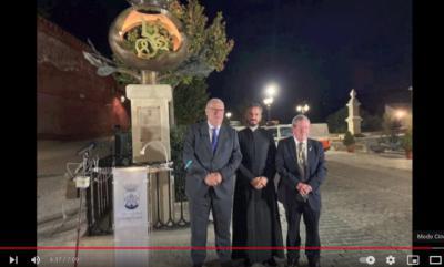 José María Gómez asiste en Alhama a la inauguración del monumento a Isabel la Católica