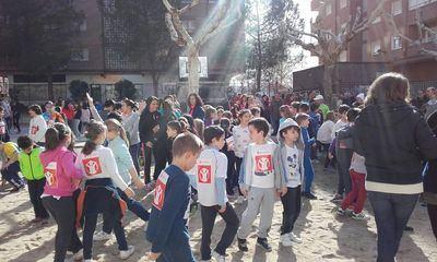 Carrera solidaria en el Colegio Rafael Morales