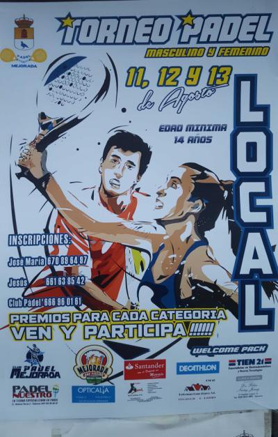 El C.D. Padel Mejorada organiza un torneo local para mayores de 14 años