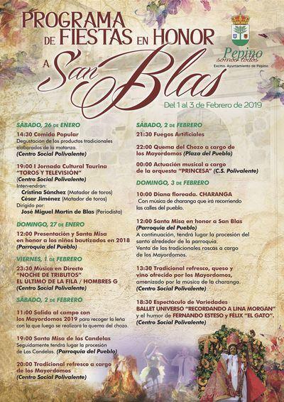 Pepino comienza este fin de semana a festejar San Blas
