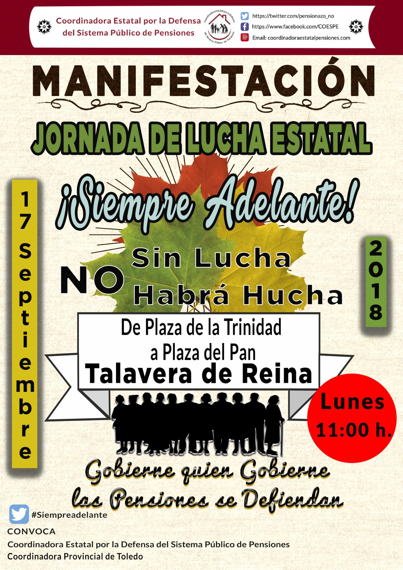 Los pensionistas talaveranos pararán las calles de la ciudad