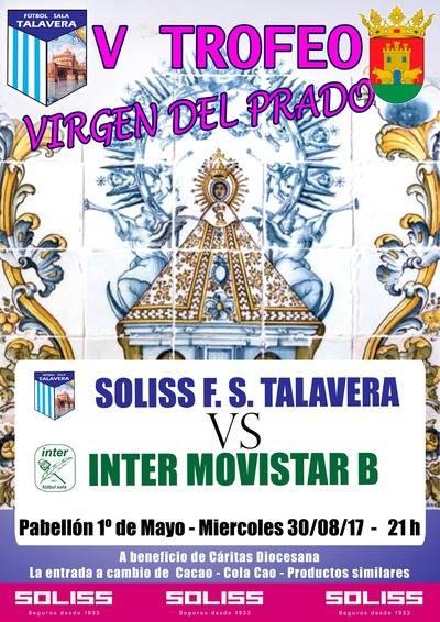 El Soliss FS Talavera jugará contra el Movistar Inter 'B'