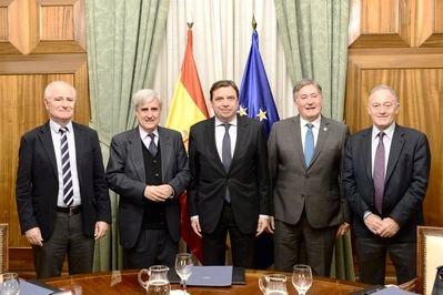 El presidente del Colegio de Veterinarios de Toledo se reúne con el Ministro de Agricultura, Pesca y Alimentación