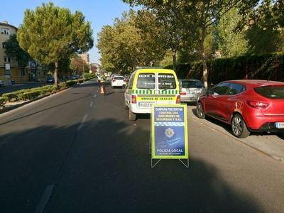 La Policía Local de Talavera denuncia a 19 conductores durante la campaña del uso de cinturón de seguridad