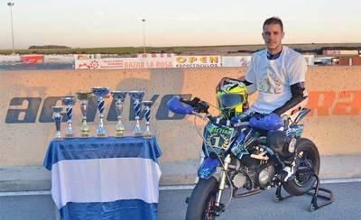 El talaverano Cristian Gutiérrez, campeón de CyL en Minimotard 2016
