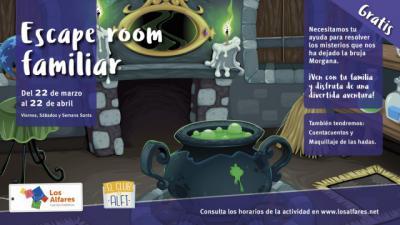 Los Alfares invita a sus visitantes a jugar en familia en un divertido 'escape room'