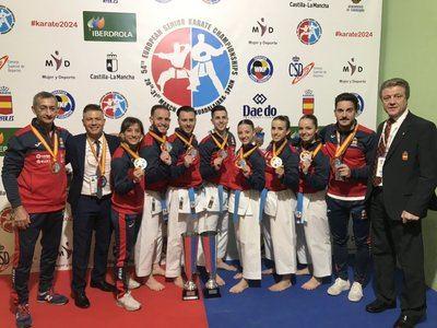 España reina en el medallero del Campeonato de Europa de Kárate