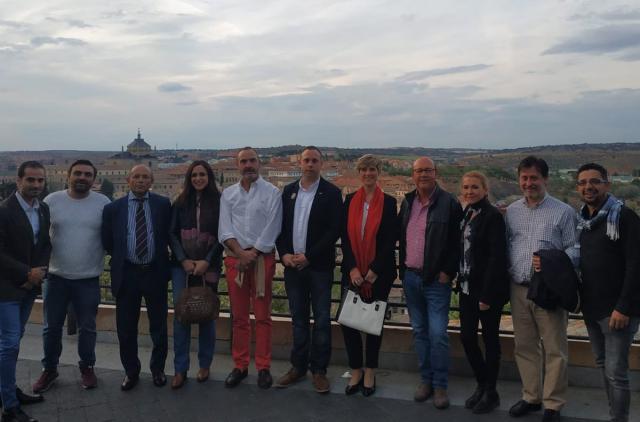 Parte del equipo de Cs Talavera durante el acto de campaña celebrado en Toledo