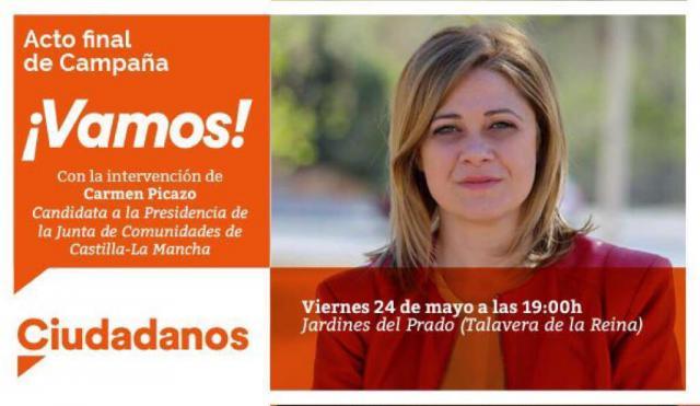 Ciudadanos CLM cerrará la campaña electoral en Talavera de la Reina