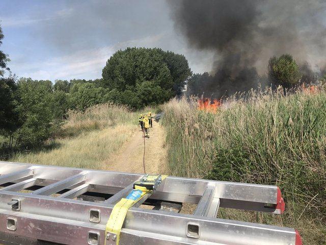 VÍDEO | Así trabajaron los efectivos para extinguir el incendio en el cerro del Alberche, en El Casar de Escalona