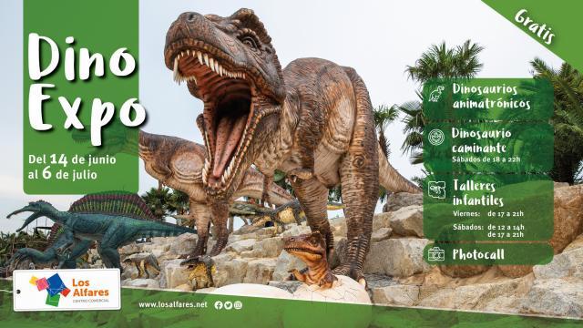 Los Alfares acoge una gran exposición de dinosaurios con figuras animadas