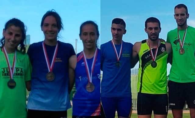 Alba Fernández y Joaquín Alonso, campeones regionales de atletismo