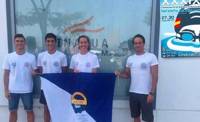 Magnífica presencia de Club Natación Aqüis en el XXXIX Nacional Infantil celebrado en Málaga