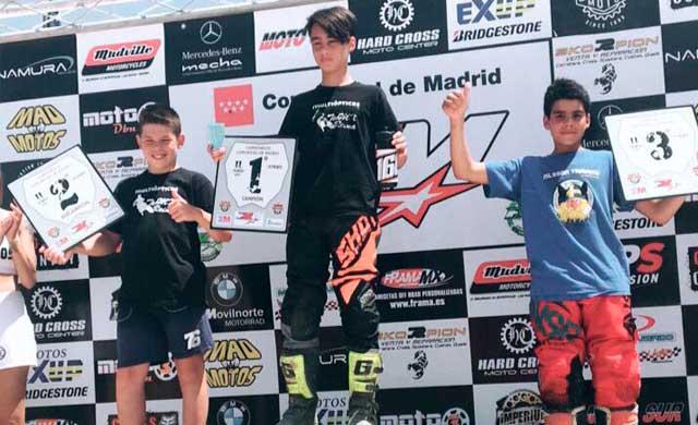 Cesar de la Casa campeón de la sexta prueba de Motocross de Madrid