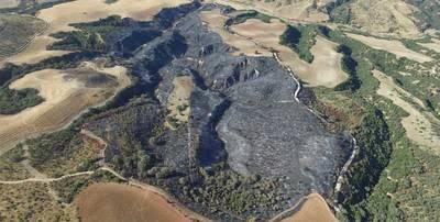 Más de 60 hectáreas fueron calcinadas por el fuego en la finca 'El Tejadillo'.