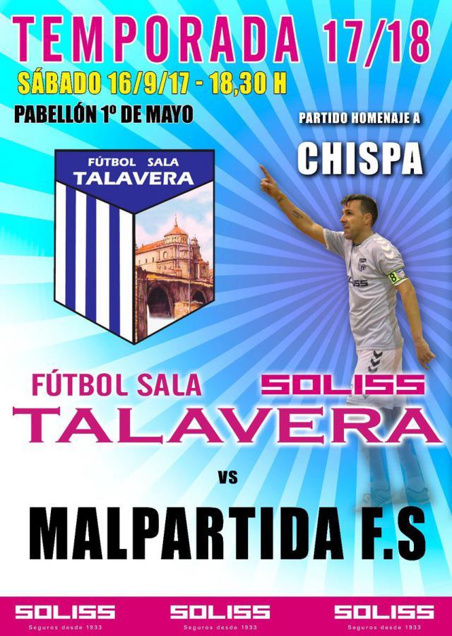 "El Solisss FS Talavera rinde homenaje a Sergio Moreno ""Chispa"""