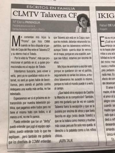 OPINIÓN. Elena Paniagua: CLMTV Talavera CF