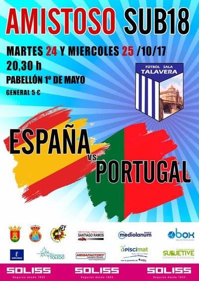 Las selecciones de fútbol sala de España y Portugal sub-18 disputan dos partidos en Talavera