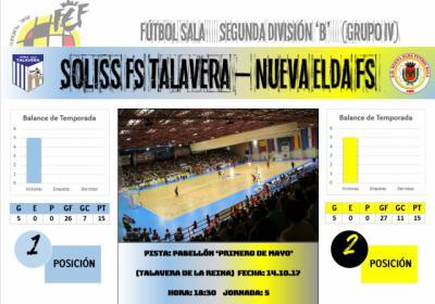 El Soliss FS Talavera y el Nueva Elda FS ponen en juego su imbatibilidad
